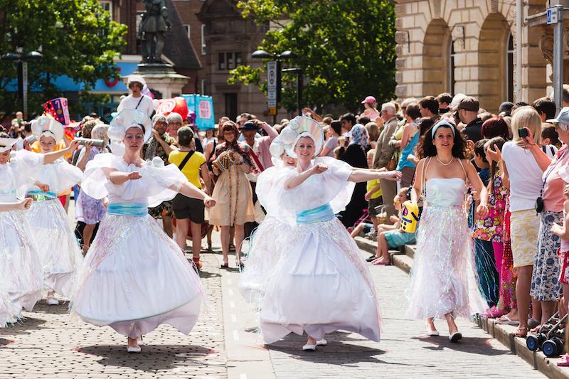 Sol Samba dancers at Aylesbury Roald Dahl Festival