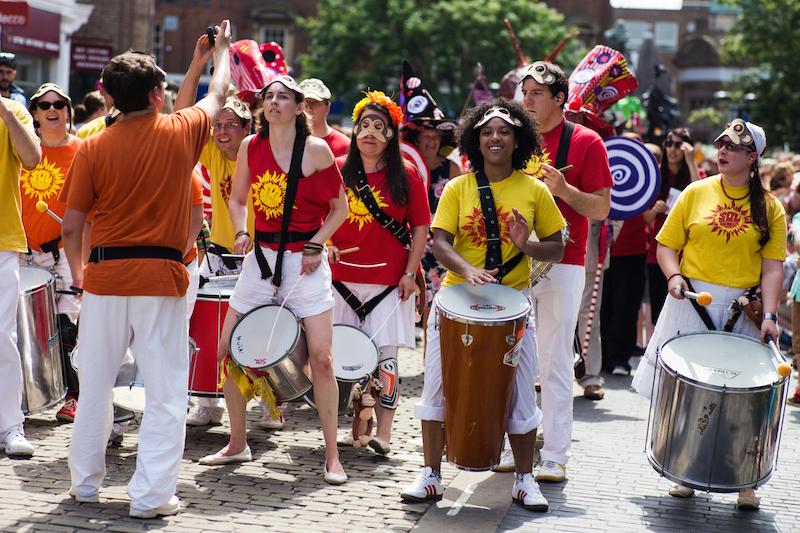 Sol Samba drummers at Aylesbury Roald Dahl Festival