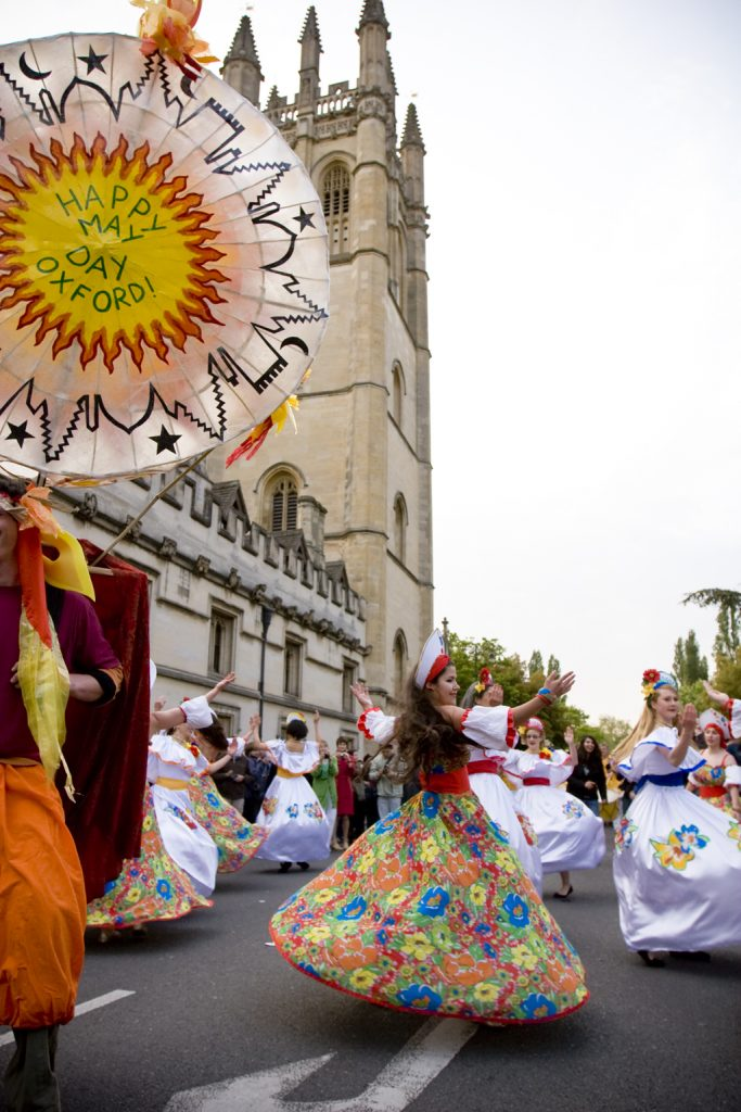 Sol Samba dancers on May Morning in Oxford 2011