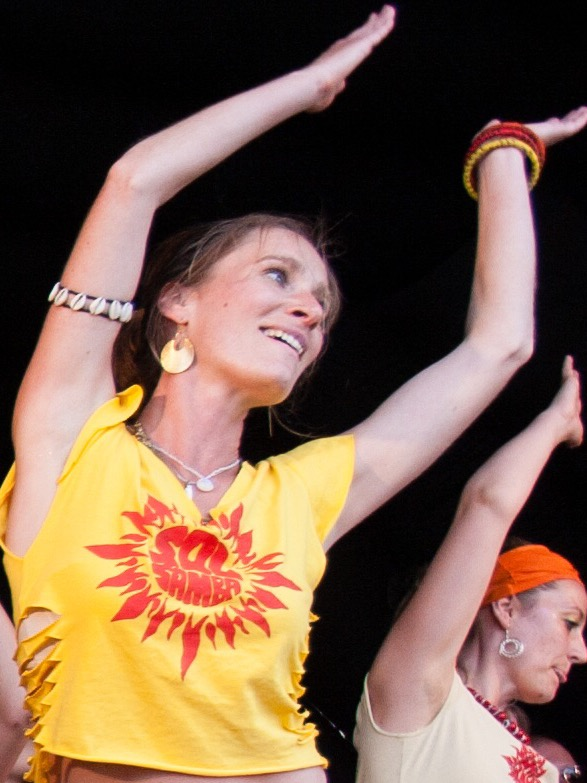 Sarah Hyams dancing with Sol Samba